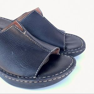 {Born Concept } Leather Wedge Heel Mule sz 8